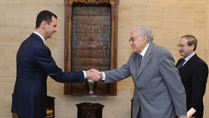 Lakhdar Brahimi meeting with President Bashar Al-Assad