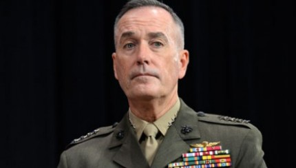 US General Joseph Dunford at NATO headquarter in Brussels