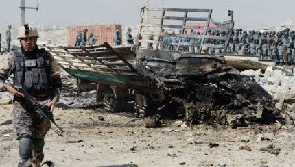 Site of suicide attack near Kabul